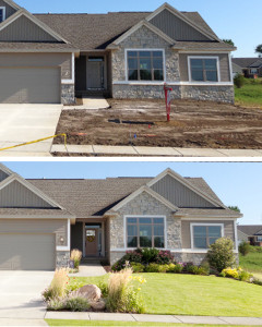 example of custom editing on house exterior